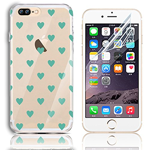 iPhone 7 Plus Silikon Hülle,iPhone 7 Plus Hülle,Sunroyal TPU Case Schutzhülle Silikon Crystal Kirstall Clear Case Durchsichtig,Cute Lovely Funny China Panda Ballon Malerei Muster Transparent Weichem S Pattern 38