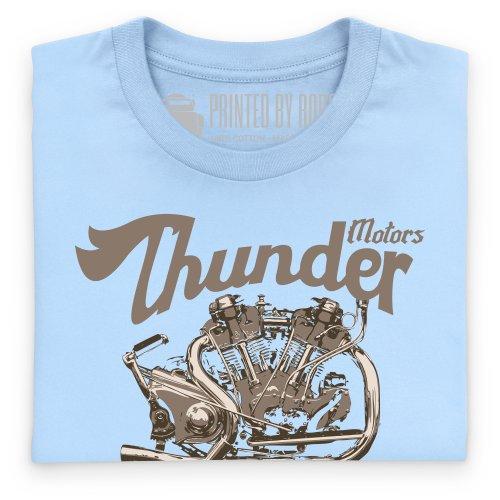 General Tee Thunder Motors T-Shirt, Herren Himmelblau