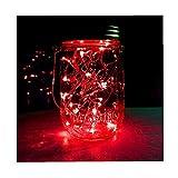 ODJOY-FAN 6 Stück 2m 20LED Dekoration Licht, Farbe Beleuchtung Zeichenfolge Batterie Sternenklar Kupfer Draht Dekor Lichter Dekorativ Licht String Lights (Lila,6 PC)