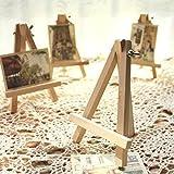 10 Pezzi Legno Cavalletto Triangolo Tavolo Stand Display Titolare Carta - 9 x 16cm