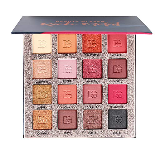 Huihong 16 Farben Professionelle Shimmer Glitzer Lidschatten Palette Puder Matte Rouge Highlight Kosmetik Set