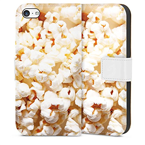 DeinDesign Tasche kompatibel mit Apple iPhone 5c Leder Flip Case Ledertasche Kino Popcorn Poppin Corn - Case-kino Iphone 5c