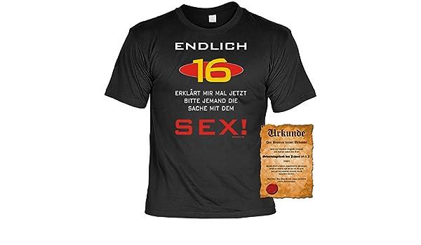 Zum 16 Geburtstag Cooles Sprüche Tshirt Endlich 16