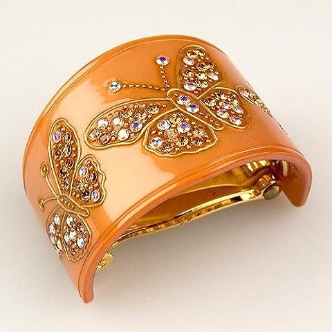 Voler Amber - Cubitas Bellini Collection (Hand-set Swarovski Crystals, Hair Clip) by Cubitas - Handset Set