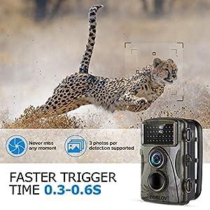 BOBLOV Trail Camera 12MP Low Glow 940nm 1080P HD Infrared Cam IR Waterproof Hunting Dvr