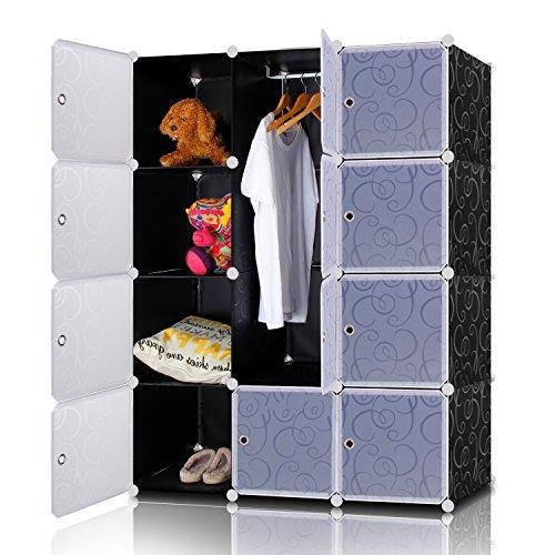 lifewit-armadio-modulare-diy-in-plastica-con-porte-12-cube-per-vestiti-giocattoli-borse-scarpiera-or