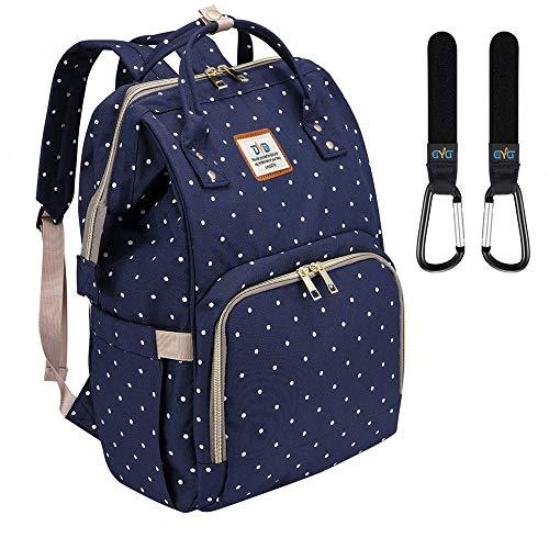 Wickeltasche Rucksack - Multi-Funktions-Wasserdichte Mutterschaft Wickeltaschen für Reisen mit Baby - Große Kapazität, Langlebig und Stilvoll(Blau) -