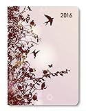 Buchkalender Mini Style Hummingbird Tree 2016 - Taschenplaner/Taschenkalender A6 - Day By Day - 352 Seiten