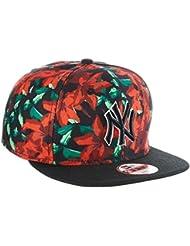 New Era Baseball Cap Mütze Mlb NY Yankees Orchid Ao Print 9Fifty - Gorra para hombre, color Rojo, talla M/L