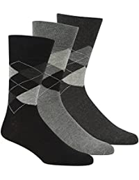 Pierre Roche Comfort Fit Non-Elastic Top Argyle Socks