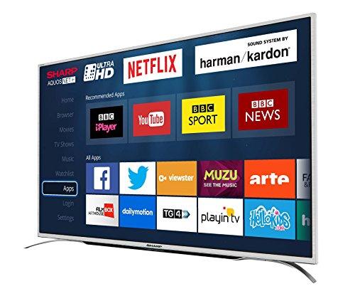 Sharp LC-55CUG8362KS 55-Inch Ultra HD 4K LED Smart TV with Freeview HD