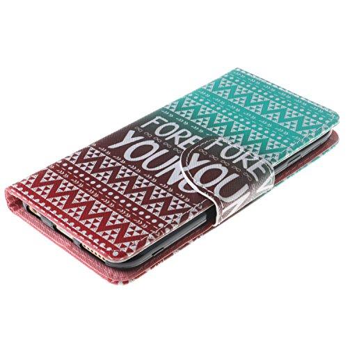 iPhone 6s Custodia, SsHhUu Lusso Stylish MagneticoStand Card Slot PU Leather Flip Protettivo Portafoglio Slim Cover Case + Stylus Pen per Apple iPhone 6 / iPhone 6s 4.7 FOREVER YOUNG