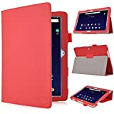 Acer Iconia One 10(b3-a10) Protection, Gambolex IVSO Étui Étui Étui en cuir PU haute qualité–avec fonction support, Super Anti Wrestling, est à 360° pour tablette PC Acer Iconia One 10(b3-a10) 10,1(25,7cm) Idéal. Für Acer Iconia One 10 (B3-A10) BOOK Style-Rot