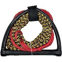 Jranter - Cuerda de esquí con Mango de Radio y empuñadura de Goma EVA, Color Negro y Amarillo, Unisex Adulto, Negro, 70 Feet