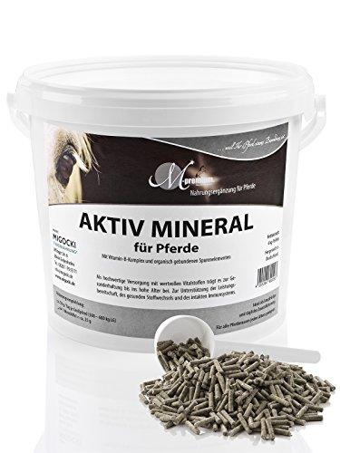 Preisvergleich Produktbild M-Premium AKTIV MINERAL – 4 kg – Mineralfutter für Pferde – mit Zink,  Selen,  Mangan – Pellets