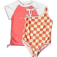 Snapper Rock Snapper Taj UV - Ropa de natación con protección solar para niña, color naranja, talla 4 años (104 cm)