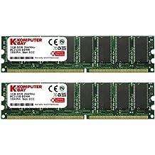 Komputerbay - Memoria para PC, 2GB (2 x 1GB), DDR DIMM (184 PIN), 266MHz, PC2100, DDR266