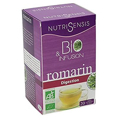 NutriSensis Romarin Digestion Infusions 20 Sachets 36 g - Lot de 3