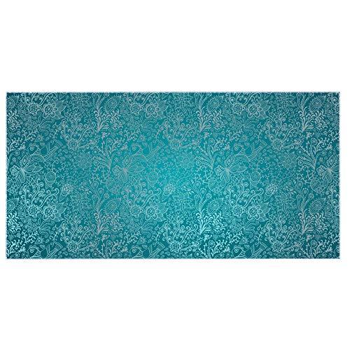 banjado Glas Nischenrückwand für Küche 110cm x 55cm | Küchenrückwand mit Motiv Mandala Landschaft | Spritzschutz selbstklebend ohne Bohren | Fliesenspiegel magnetisch und beschreibbar 110 Foto