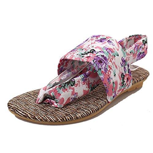 Koly_Estate Sandali Scarpe peep-toe Scarpe basse sandali romani signore infradito Viola