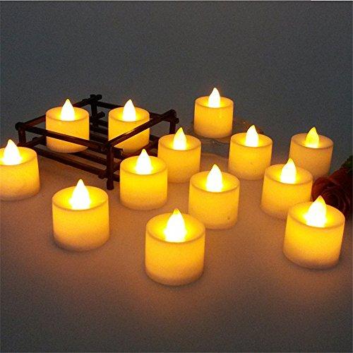 Kerzen LED 24 PC mini buntes romantisches elektronisches Licht der für Partei verzieren Schwimmbad Aquarium Party