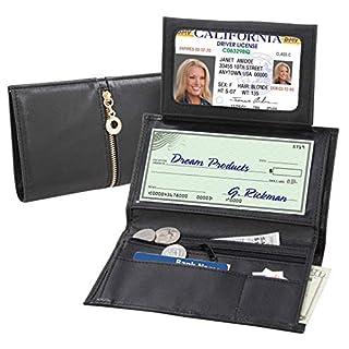 APMAX, Damen-Geldbörse Schwarz Schwarz 11 * 18cm