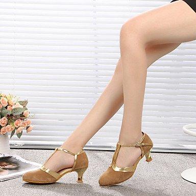 XIAMUO Tanz Schuhe Wildleder/Lackleder Wildleder/Lackleder Latin/Moderne Heels Stiletto Heel Praxis/IndoorBlack Haut