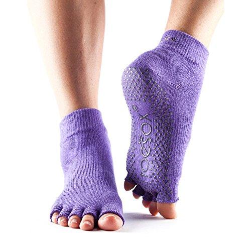Toesox Unisex Toe ToeSox Toe Socks without Ankle - Light Purple, Large