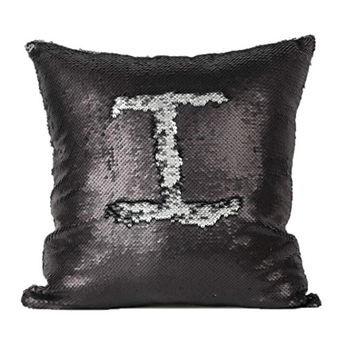 Cuscino,WINWINTOM Double Color Glitter Sequins Pillow Case Home Decor Cushion Covers E