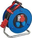 Brennenstuhl Garant CEE 1 IP44 Industrie-/Baustellen-Kabeltrommel (30m - Spezialkunststoff, Baustelleneinsatz und ständiger Einsatz im Außenbereich, Made In Germany) blau