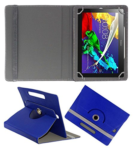 Acm Rotating 360° Leather Flip Case For Lenovo Tab 2 A10-70 Cover Stand Dark Blue  available at amazon for Rs.189