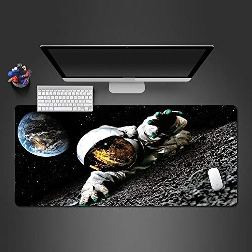YWSZY-Mouse Pad Space Astronaut Wallpaper Mauspad Hochwertiges Gummi waschbar für PC-Spiele Home Office @ 700x300x2 (2-wallpaper-grenze)