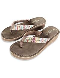 MONAcwe Flip-Flops Sandalen Hausschuhe Weiblichen Sommer Indoor/Outdoor Tragen Anti-Slip Tragen Schuhe Flache Ferse Meer Liebhaber Strand Schuhe, schwarz, 39