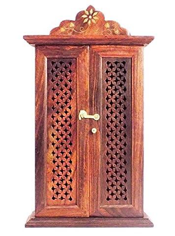 Vente Nouvelle Année Crafts al-numan Boîte à clés en bois mur support/Rack/armoire/avec crochets porte-clés