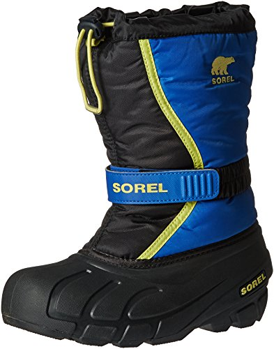 Sorel Jungen Youth Flurry Schneestiefel, Blau (Black/Super Blue), 36 EU