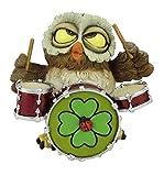 Funny Gufi-Batterista gufo con coccinella e Percussioni