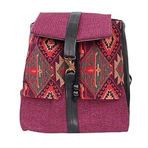 Rucksack Damen 33cm wasserdicht 'violett' greca| Tasche | HANDMADE | Geschenkideen für Frauen
