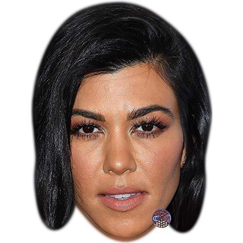Celebrity Cutouts Kourtney Kardashian (Black Hair) Maske aus Karton