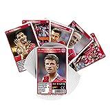 Quartett Team FC Bayern München FCB + gratis Aufkleber forever München - Spielkarten / Kartenspiel / Karten / deck / cubierta / pont / Playing Cards