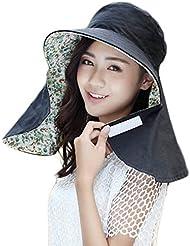 JUNGEN Plegable Verano la Moda Señoras Gorra Visera Tapa Señoras Sombrero Negro