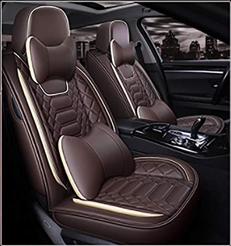 YQAD Four Seasons Ledersitzbezug Umweltfreundlicher, abriebfester, wasserdichter Sitzbezug für die meisten Fünfsitzer-2 (Sitzbezug Für Mazda Suv)