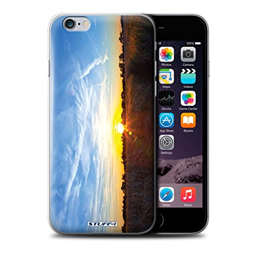 STUFF4 Phone Case / Cover for iPhone 6+/Plus 5.5 / Treeline Design / Sunset Scenery Collection Cielo blu