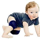 Covermason 5 Paar Baby Krabbeln Anti-Rutsch Knieschoner Knieschützer Krabbelschoner Krabbelhilfe (Dunkelgrau)