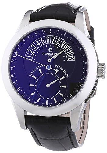 Perrelet 1041/5 - Reloj de automático para hombre, con correa de otros materiales, color negro