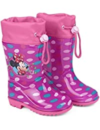 bottes de pluie minnie rose foncée asaaSur3Tu