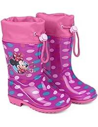 bottes de pluie minnie rose foncée