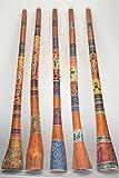 Holz Didgeridoo Jackfruit Baum - Länge 150cm - Punkt- und Tierbemalung