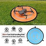 MachinYesity 55cm Landing Pad Fast-Fold Noctilucent FPV Drone Parking Grembiule Pad Pieghevole per DJI Spark Mavic PRO FPV Racing Drone Accessory Orange & Blue