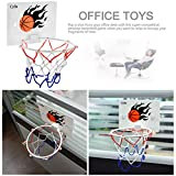 Milkee Innenminibasketballkorb beim Büro Zimmer Mini Basketball Brett Kinder Freizeit Sport mit Ball und Pumpe - 5