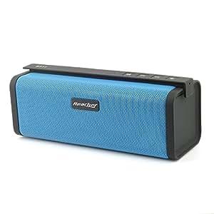 Reacher Enceinte Bluetooth Portable Haut-parleur Sans Fil avec Radio FM, support USB Host, AUX Line-in, micro intégré, carte TF / Micro SD Card (Bleu)